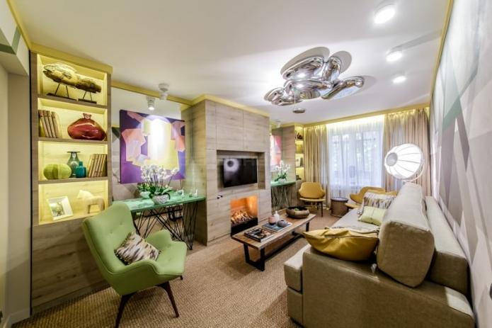Фантастический дизайн небольшой гостиной