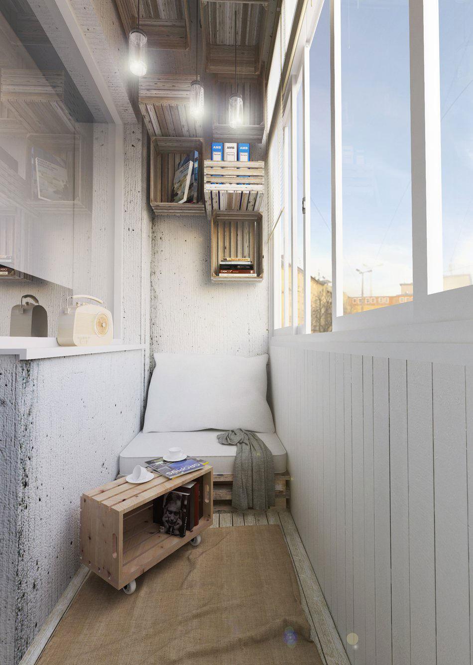 Ящики для хранения на балконе