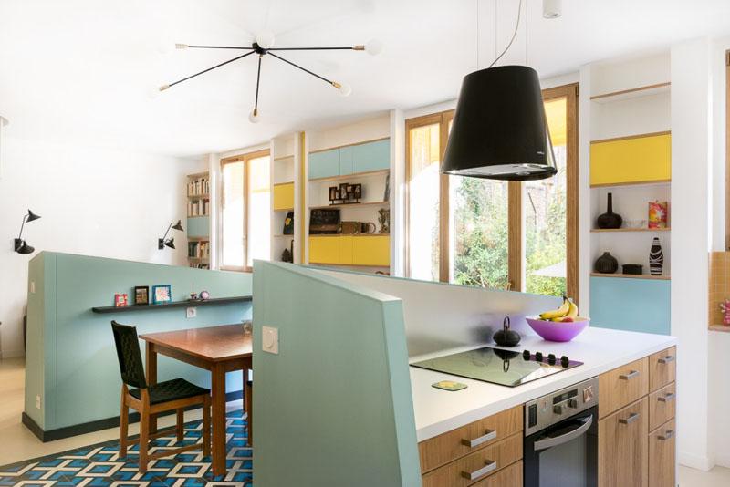 Идея интерьера для маленьких квартир от студии MAEMA Architects