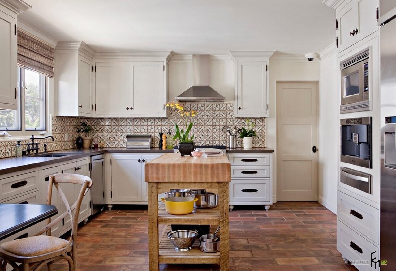 Интерьер кухни в южном стиле
