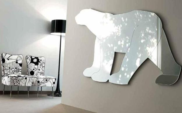 Зеркало в форме полярного медведя