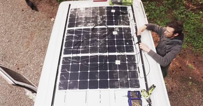 Жизнь в доме на колёсах: солнечные панели