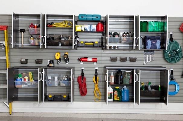 Система хранения на стене в гараже