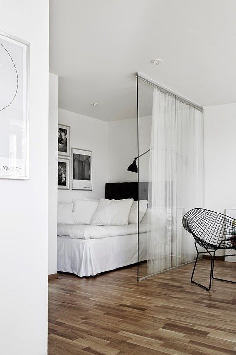 Спальня за шторами